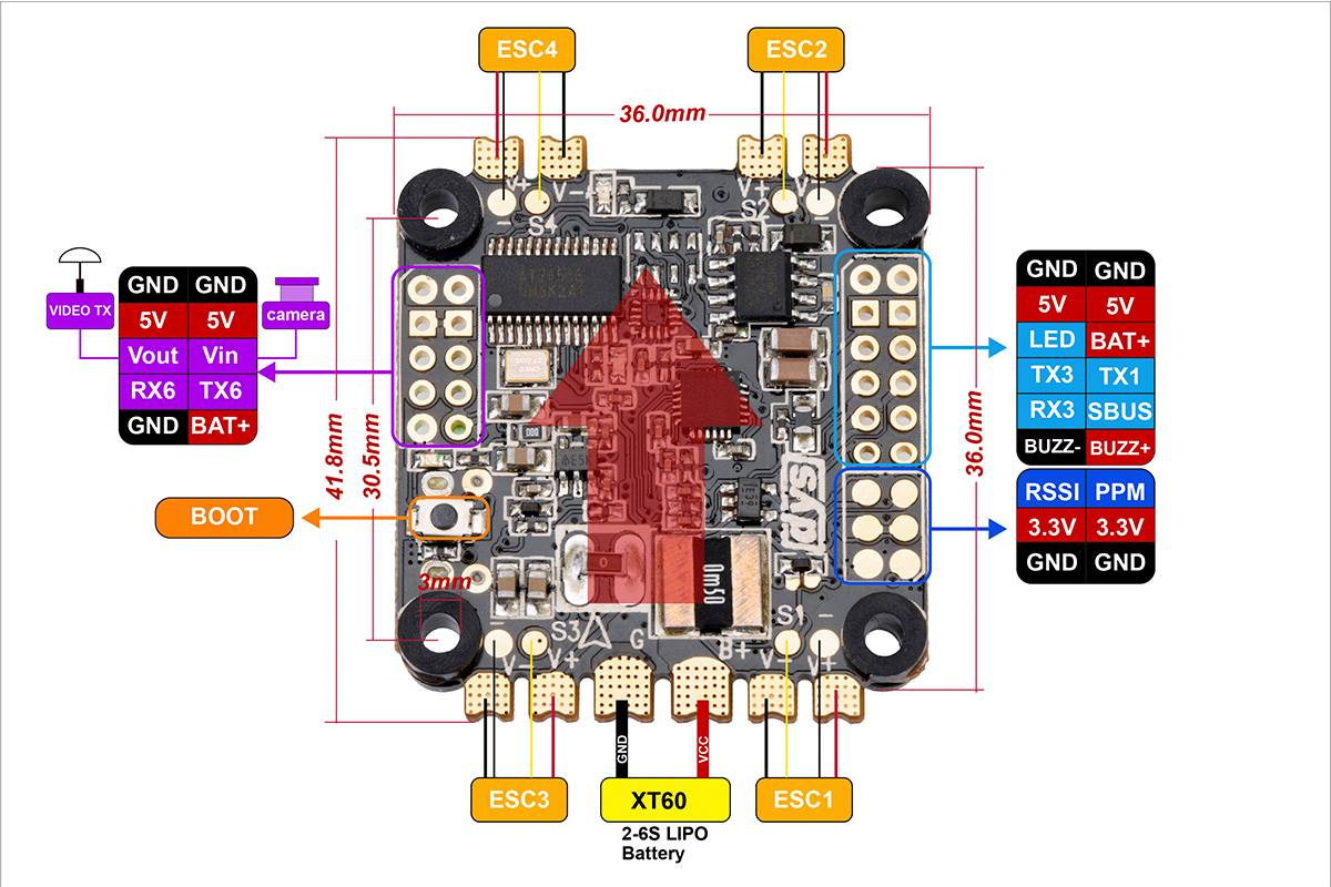 Rc Wiring Diagram Auto Electrical Slick Start Dys V2 Aio F4 Flight Controller