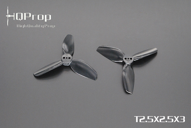 HQprop Black T2.5x2.5x3 PC Propeller Set of 4