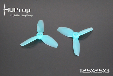 HQprop Blue T2.5x2.5x3 PC Propeller Set of 4