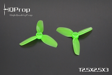 HQprop Green T2.5x2.5x3 PC Propeller Set of 4