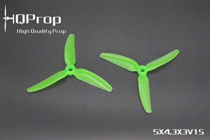 HQprop V1S Light Green 5x4.3x3 PC Propeller Set of 4