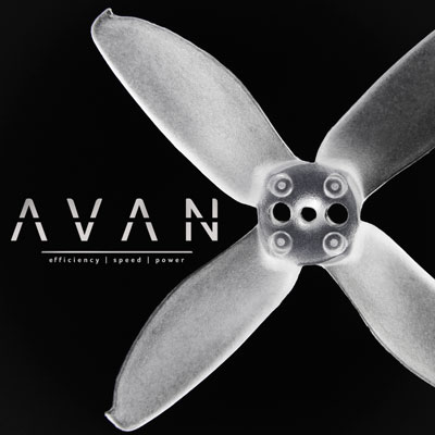 Clear AVAN 2 Inch Propeller 6 CW + 6 CCW Pack