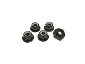 Black Low Profile M5 Aluminum Nylocks CW (5pcs)