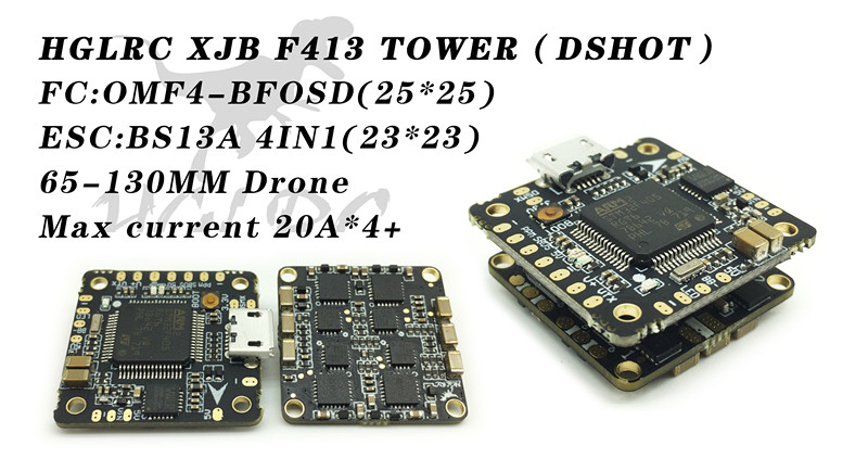 HGLRC XJB F413 Omnibus F4 and 13A BLHeli_S 4in1