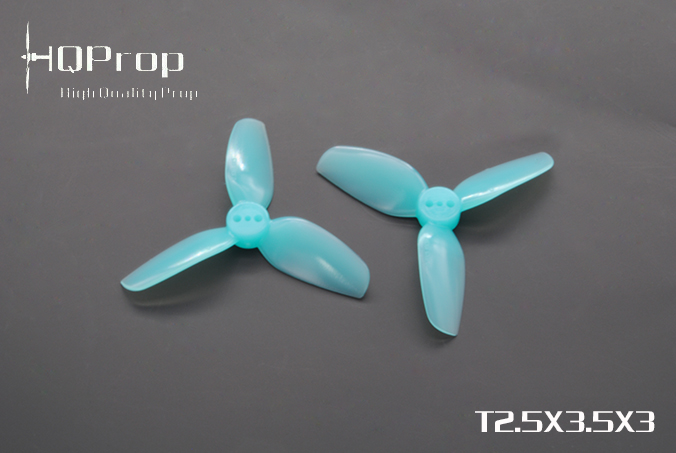 HQprop Light Blue T2.5x3.5x3 PC Propeller Set of 4
