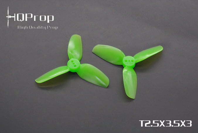 HQprop Light Green T2.5x3.5x3 PC Propeller Set of 4