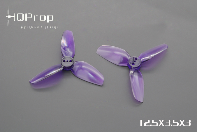 HQprop Light Purple T2.5x3.5x3 PC Propeller Set of 4