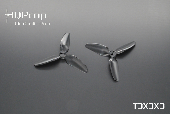 HQprop Black T3x3x3 PC Propeller Set of 4
