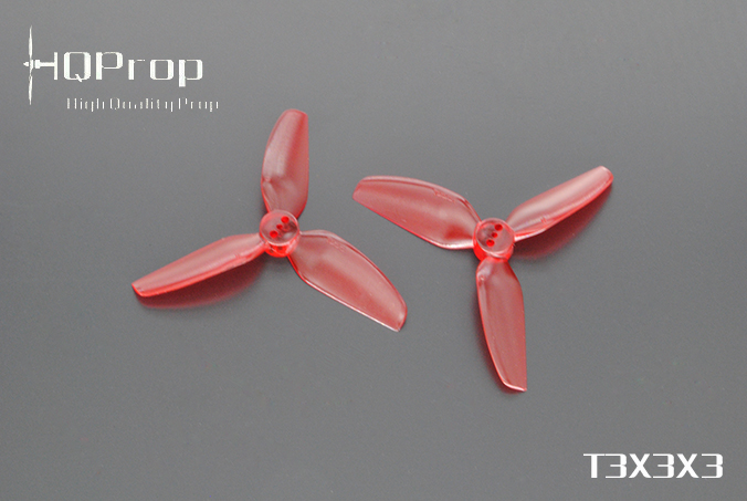 HQprop Light Red T3x3x3 PC Propeller Set of 4