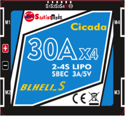 Sunrise Cicada 30A 4in1 DShot BB2 ESC 5v BEC