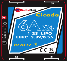 Sunrise Cicada 6A 4in1 DShot BB2 ESC