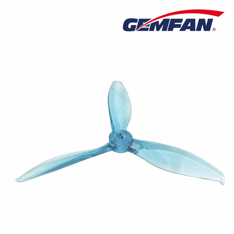 "Crystal Blue Gemfan Flash 5149 Tri Blade 5"" Propeller Set"