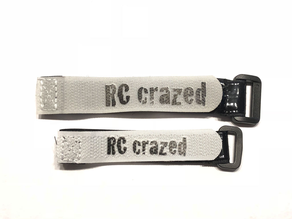 RC Crazed Rubberized Velcro Battery Strap (2-pack)